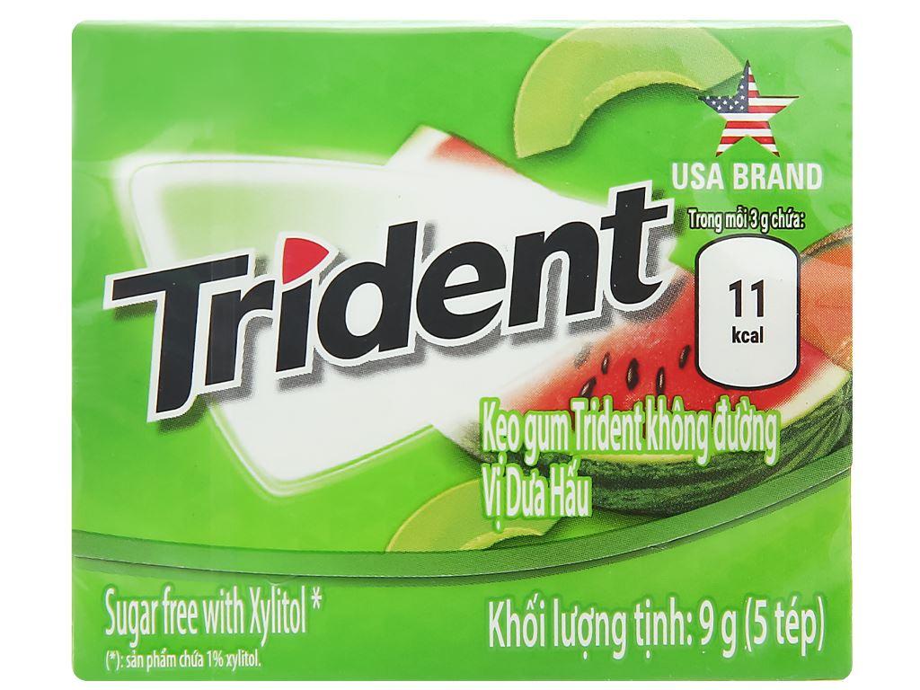 Kẹo gum Trident Ice hương dưa hấu hộp 9g 1