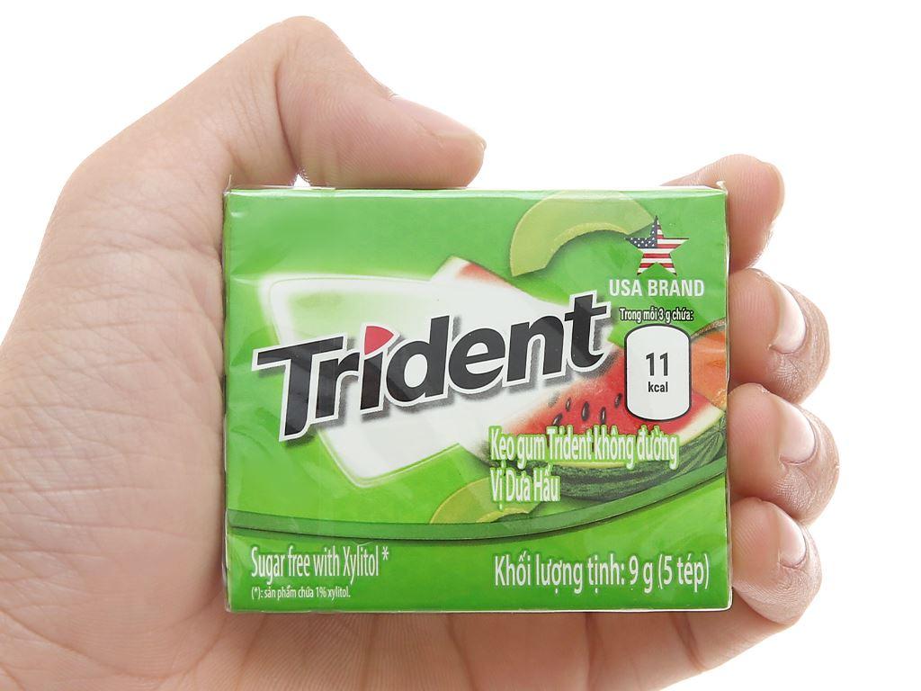 Kẹo gum Trident Ice hương dưa hấu hộp 9g 4