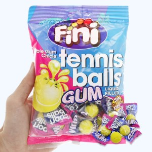 Kẹo cao su Fini Tennis Ball Gum gói 80g