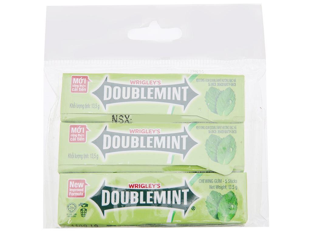 Kẹo sing-gum DoubleMint hương bạc hà gói 40.5g 1