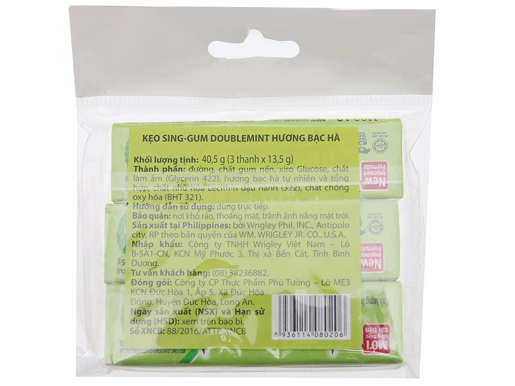 Kẹo sing-gum DoubleMint hương bạc hà gói 40.5g 2