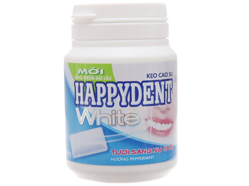 Kẹo cao su Happydent White hương Peppermint hũ 56g 1