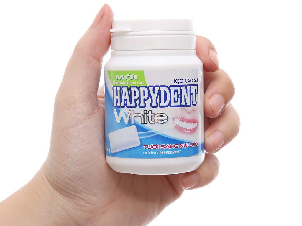 Kẹo cao su Happydent White hương Peppermint hũ 56g 3