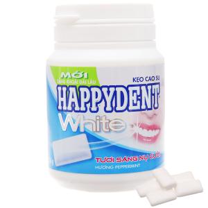 Kẹo cao su Happydent White hương Peppermint hũ 56g