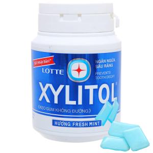 Kẹo gum không đường Lotte Xylitol hương Fresh Mint hũ 58g