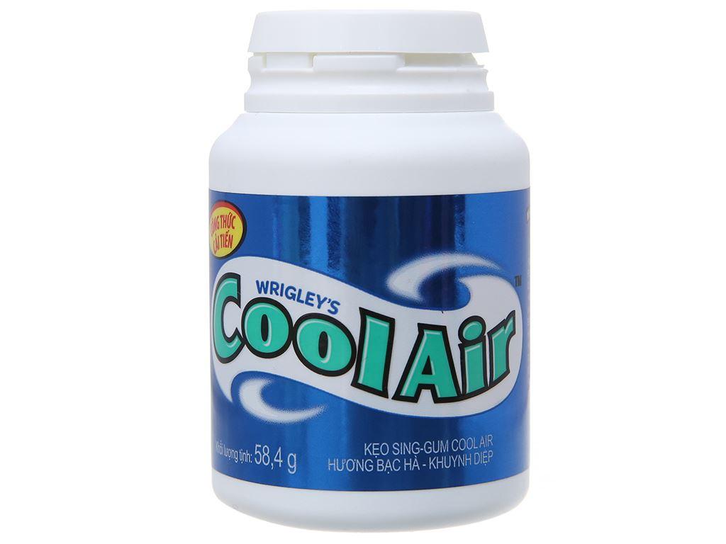 Kẹo sing-gum Cool Air hương bạc hà khuynh diệp hũ 58.4g 2
