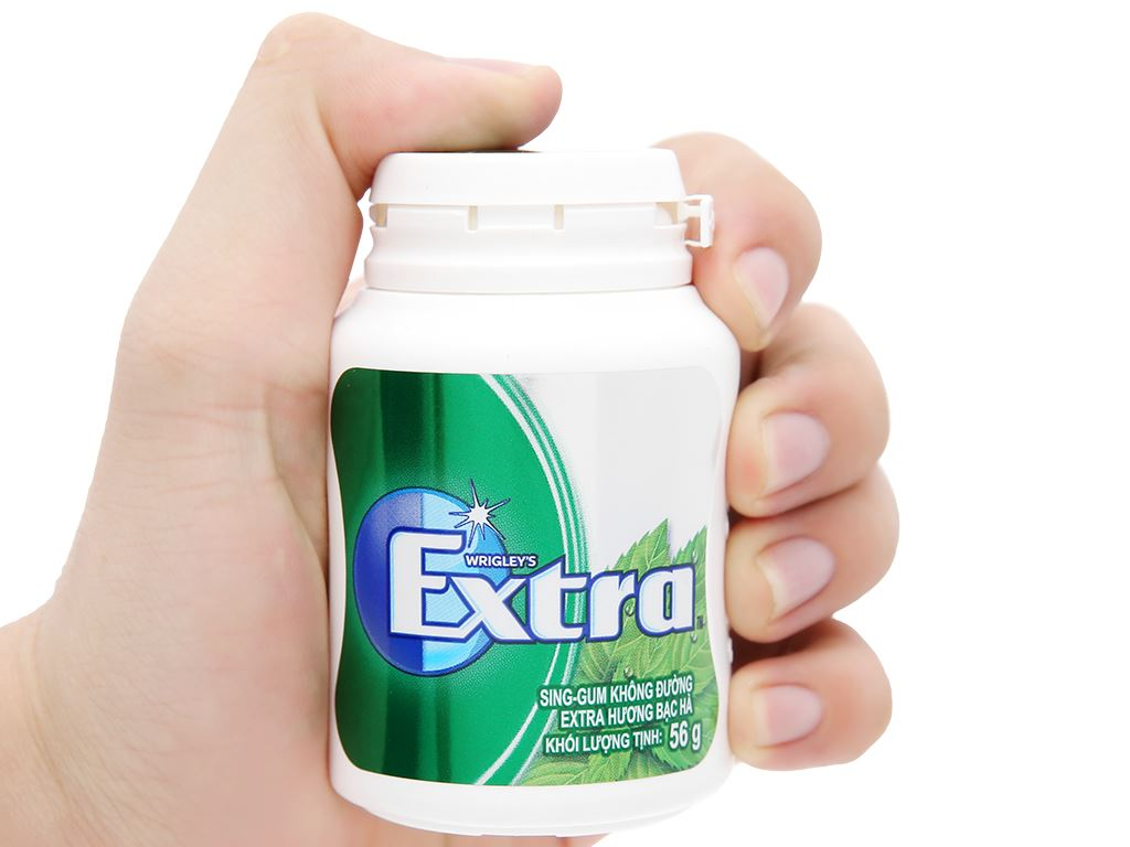 Sing-gum không đường Extra hương bạc hà hũ 56g 8