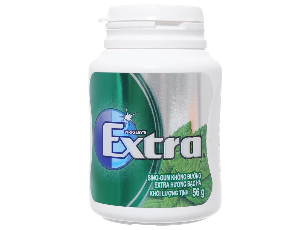 Sing-gum không đường Extra hương bạc hà hũ 56g 1