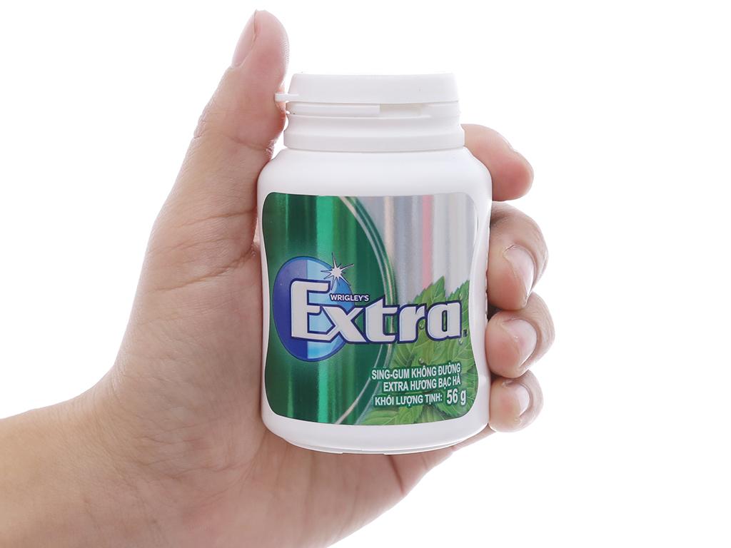 Sing-gum không đường Extra hương bạc hà hũ 56g 3