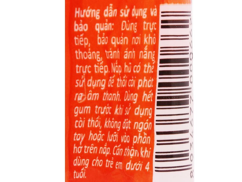 Kẹo gum bong bóng Lotte Fusen Nomi hương cam hũ 15g 4