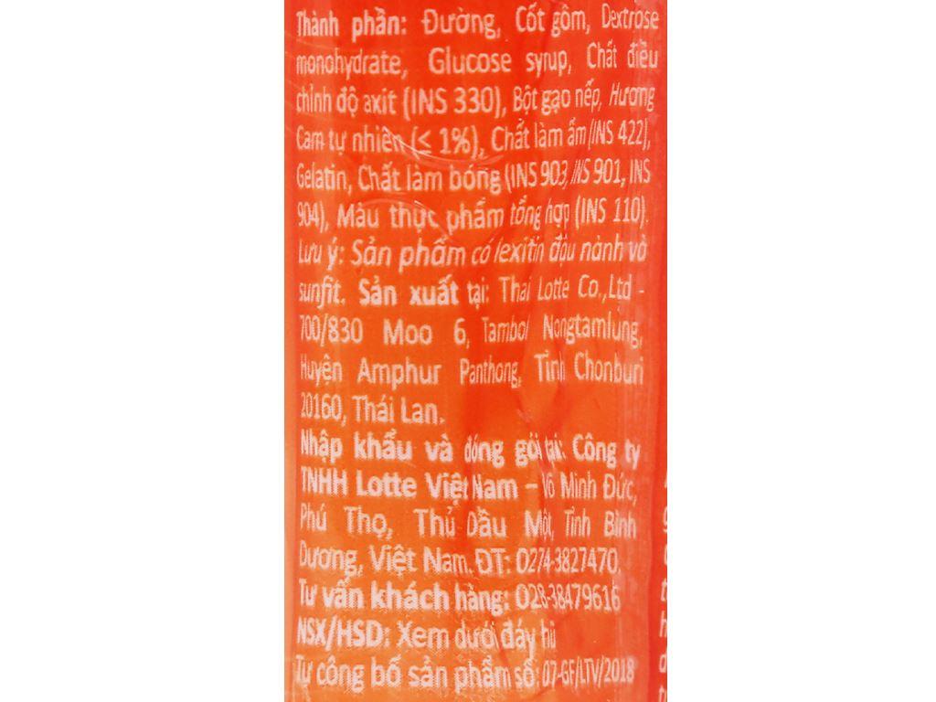 Kẹo gum bong bóng Lotte Fusen Nomi hương cam hũ 15g 5