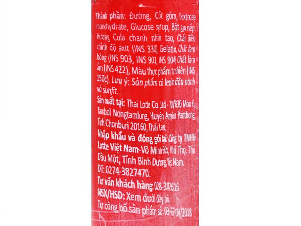 Kẹo gum bong bóng Lotte Fusen Nomi hương cola chanh hũ 15g 5
