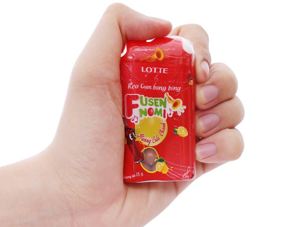 Kẹo gum bong bóng Lotte Fusen Nomi hương cola chanh hũ 15g 6