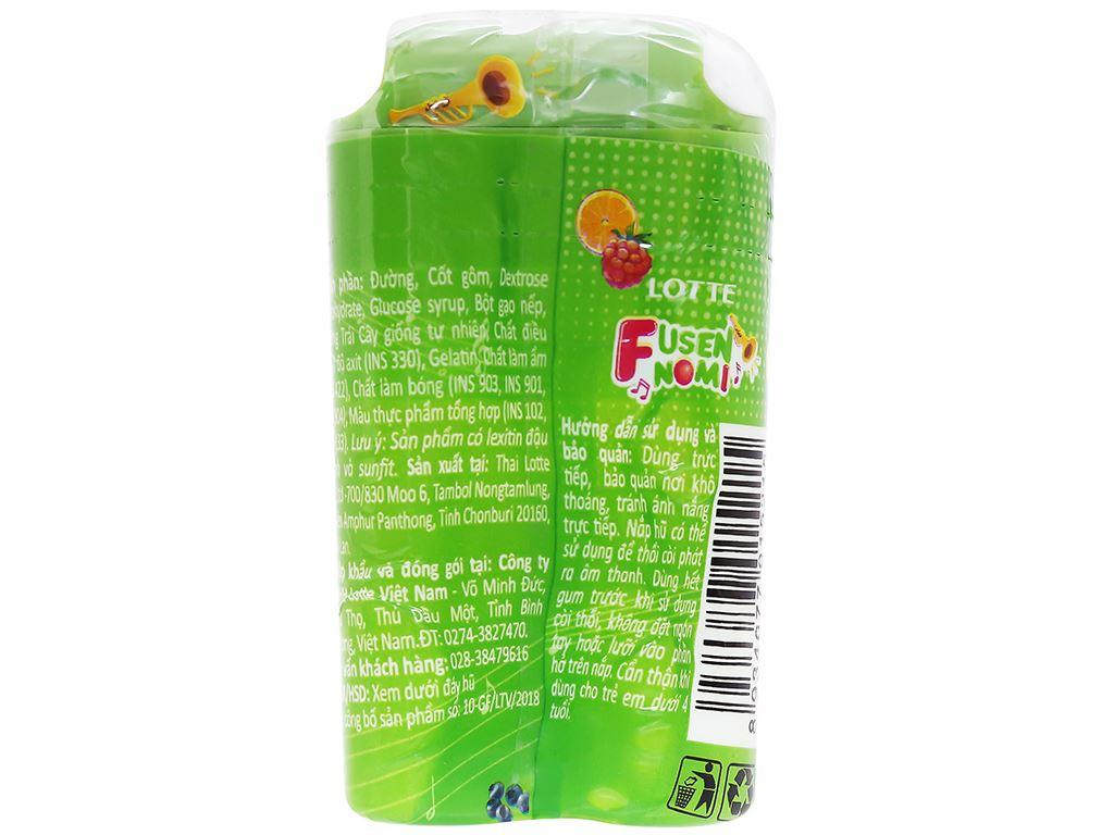 Kẹo gum bong bóng Lotte Fusen Nomi hương trái cây hũ 15g 3