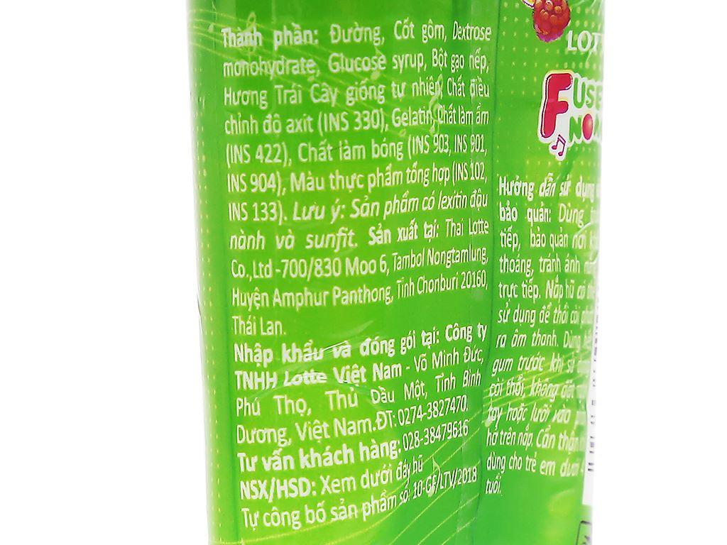 Kẹo gum bong bóng Lotte Fusen Nomi hương trái cây hũ 15g 4