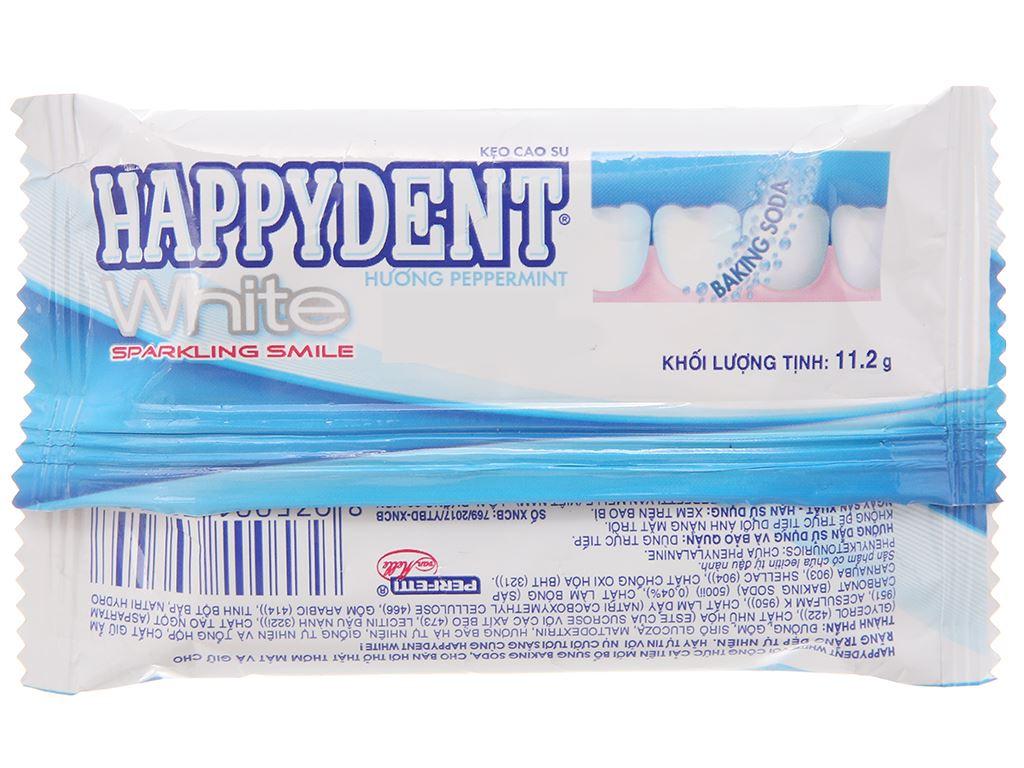 Kẹo cao su Happydent White hương Peppermint vỉ 11.2g 2