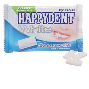 Kẹo cao su Happydent White bạc hà sảng khoái dài lâu 11.2g