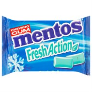 Kẹo cao su Mentos Fresh Action vị bạc hà 11g (10 viên)