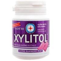 Kẹo cao su không đường Lotte Xylitol vị việt quất 58g