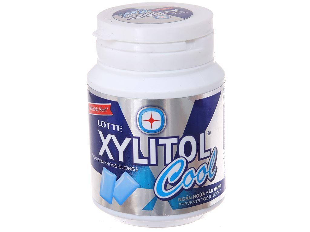 Kẹo gum không đường Lotte Xylitol Cool hũ 58g 1