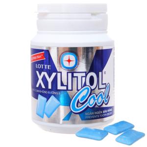 Kẹo gum không đường Lotte Xylitol Cool hũ 58g