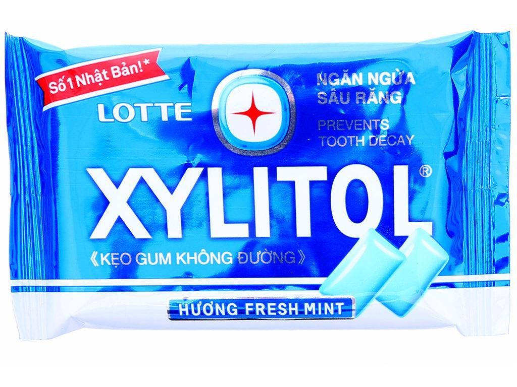 Kẹo gum không đường Lotte Xylitol hương Fresh Mint vỉ 11.6g 1
