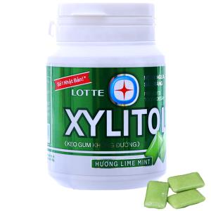 Kẹo gum không đường Lotte Xylitol hương Lime Mint hũ 58g