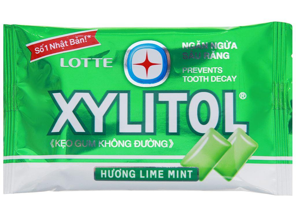 Kẹo gum không đường Lotte Xylitol hương Lime Mint vỉ 11.6g 1