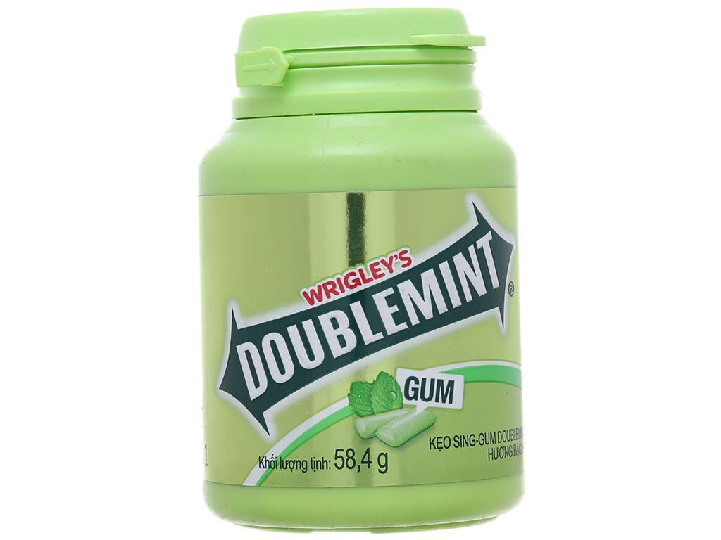 Kẹo sing-gum DoubleMint hương bạc hà hũ 58.4g 1