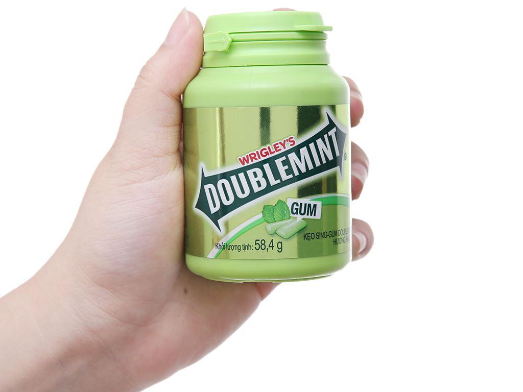 Kẹo sing-gum DoubleMint hương bạc hà hũ 58.4g 3