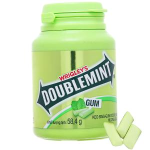 Kẹo sing-gum DoubleMint hương bạc hà hũ 58.4g