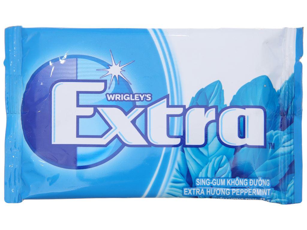 Sing-gum không đường Extra hương Peppermint vỉ 11g 1