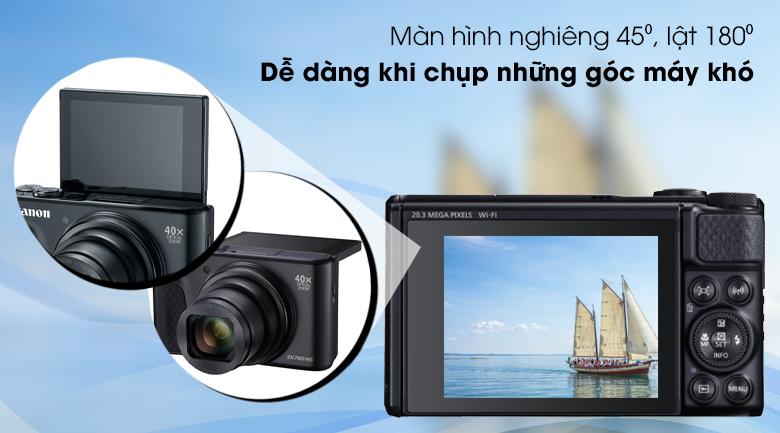 Màn hình LCD cảm ứng 3.0 inch lật 180⁰ - Máy ảnh Compact Canon Powershot SX740 HS