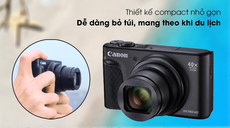 Thiết kế nhỏ gọn, hiện đại và tinh tế - Máy ảnh Compact Canon Powershot SX740 HS