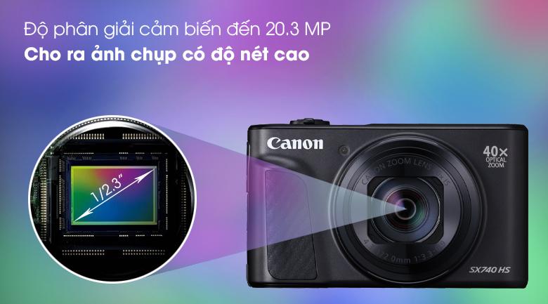 Cảm biến CMOS 1/2.3 inch 20.3 MP cho hình ảnh sắc nét - Máy ảnh Compact Canon Powershot SX740 HS