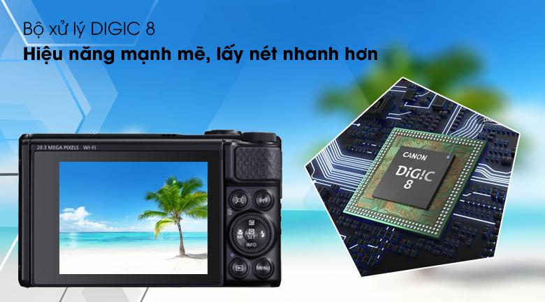 Bộ xử lý DIGIC 8 mạnh mẽ, lấy nét nhanh - Máy ảnh Compact Canon Powershot SX740 HS
