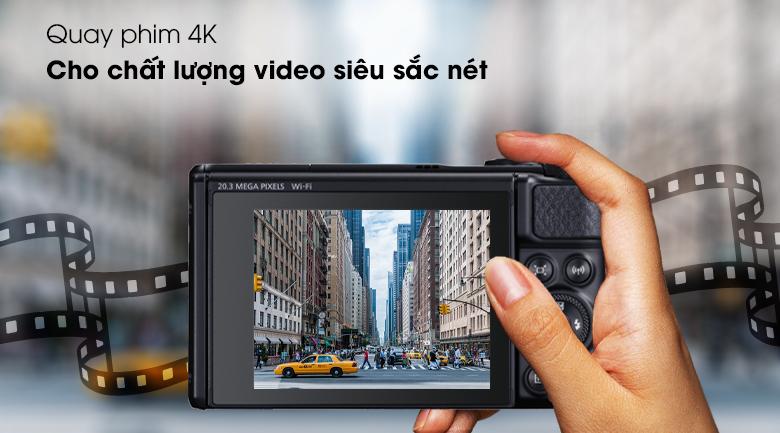 Hỗ trợ quay phim độ phân giải 4K  - Máy ảnh Compact Canon Powershot SX740 HS