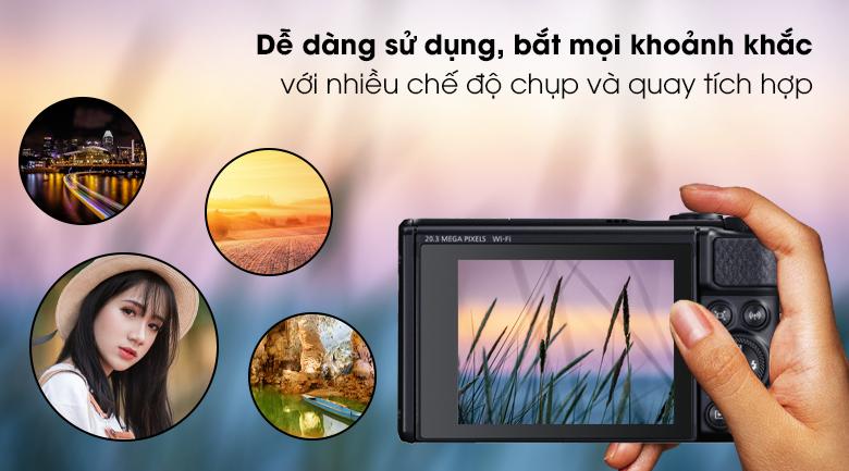 Đa dạng chế độ chụp và quay video - Máy ảnh Compact Canon Powershot SX740 HS