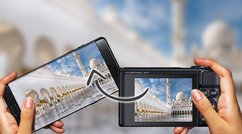 Tích hợp WiFi và NFC dễ dàng lấy ảnh về điện thoại - Máy ảnh Compact Canon Powershot SX740 HS