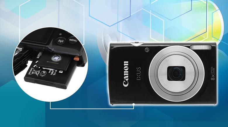 Chụp khoảng 210 ảnh và quay khoảng 55 phút - Máy ảnh Compact Canon IXUS 185