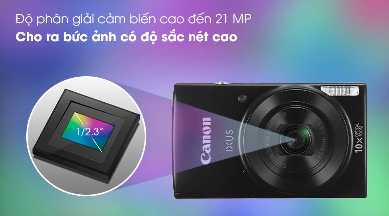 Cảm biến CCD 1/2.3 inch 21 MP cho hình ảnh sắc nét và chi tiết - Máy ảnh Compact Canon Ixus 190