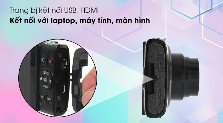 Hỗ trợ kết nối qua cổng micro USB và HDMI - Máy ảnh Compact Canon IXUS 285