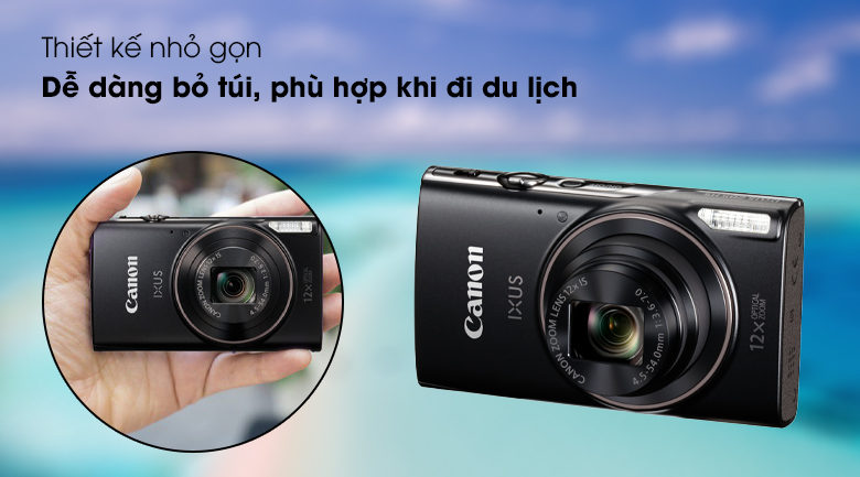Thiết kế nhỏ nhắn, gọn gàng khi bỏ túi - Máy ảnh Compact Canon Ixus 285