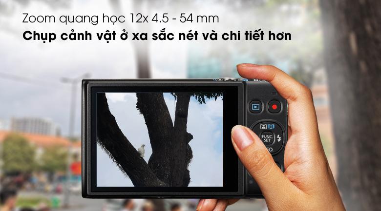 Ống kính với hệ thống zoom quang học 12x 4.5 - 54 mm - Máy ảnh Compact Canon Ixus 285