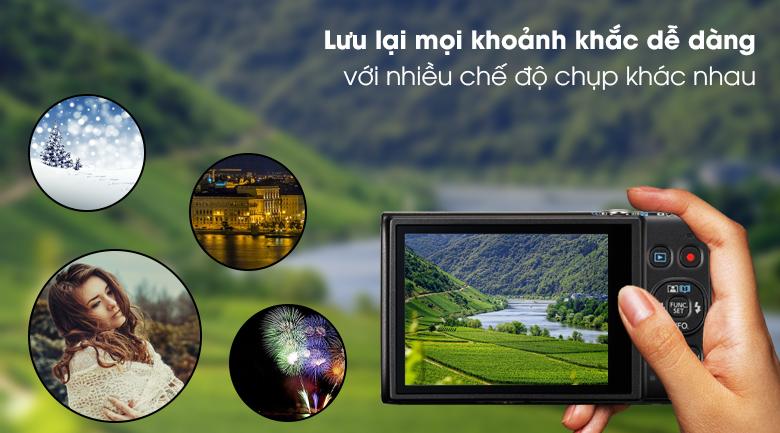 Hỗ trợ quay video Full HD và đa dạng chế độ chụp - Máy ảnh Compact Canon Ixus 285