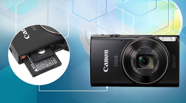Thời gian chụp khoảng 180 ảnh và quay khoảng 40 phút - Máy ảnh Compact Canon IXUS 285