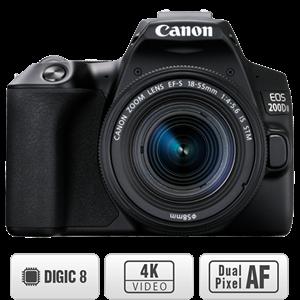 Máy ảnh DSLR Canon EOS 200D II  (EF-S 18-55mm IS STM) Đen