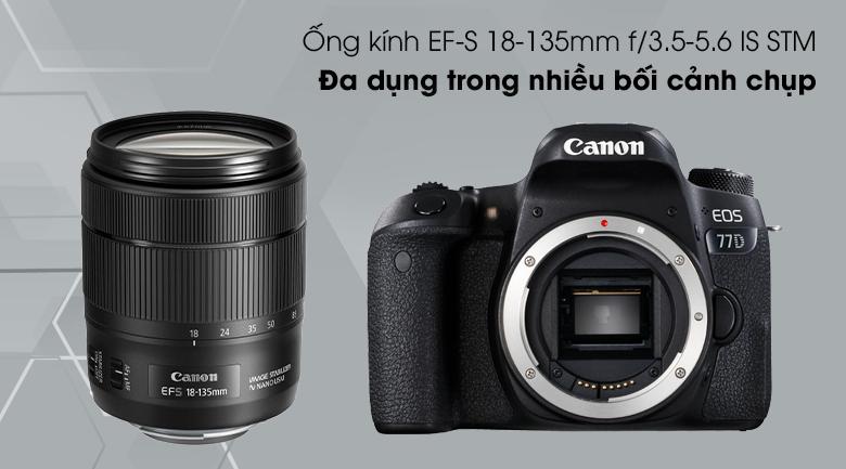 Ống kính EF-S 18-135mm f/3.5-5.6 IS STM - Máy ảnh DSLR Canon EOS 77D 18-135 IS STM