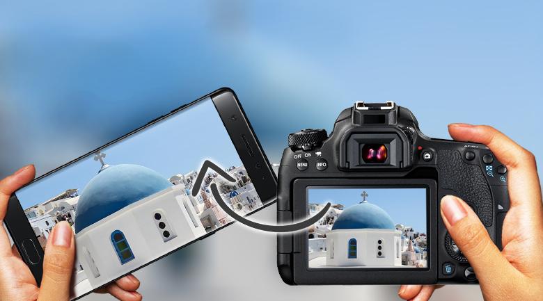 Tích hợp WiFi, NFC và bluetooth tiện dụng - Máy ảnh DSLR Canon EOS 77D 18-135 IS STM
