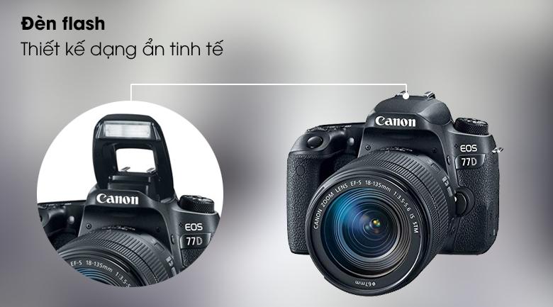 Đèn flash - Máy ảnh DSLR Canon EOS 77D 18-135 IS STM